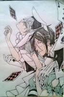 Ciel and Sebastian - Wonderland by kngdmhrts2