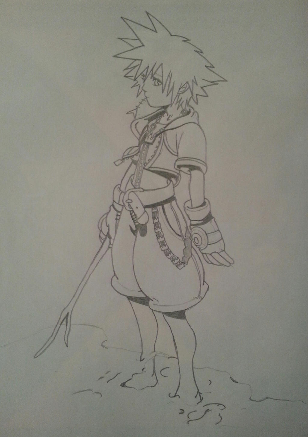 Sora line-art by kngdmhrts2