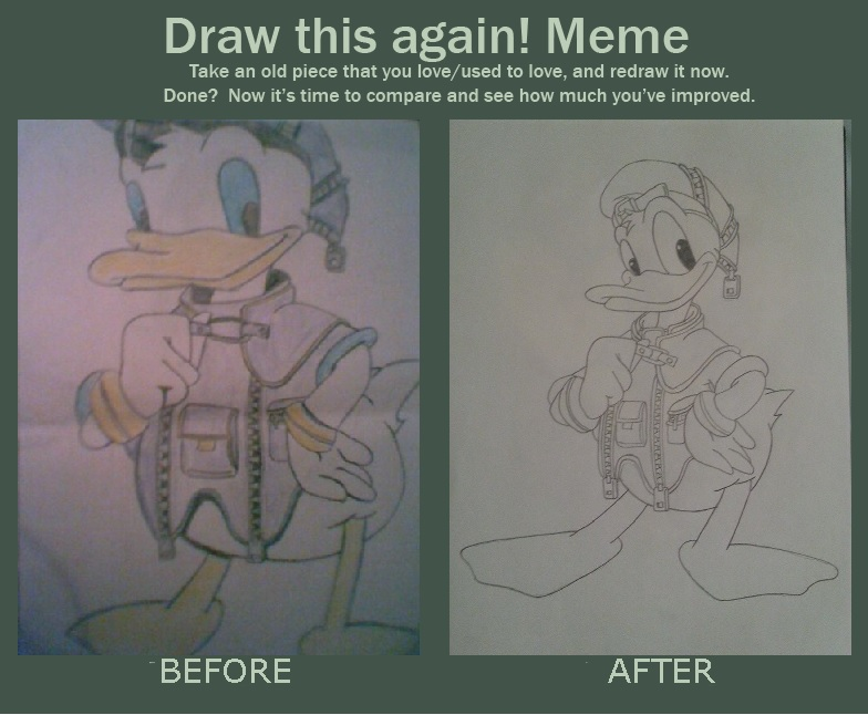 draw this again meme template - donald kh draw this again meme by kngdmhrts2 on deviantart