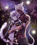 FFXIV Miqotes - My charas Xhiro and Lestat