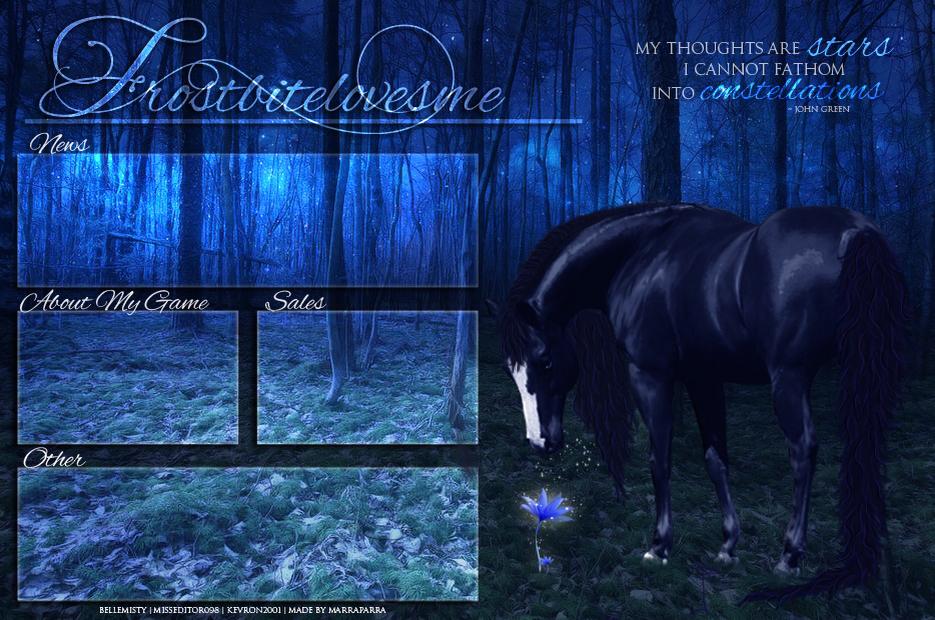 Frostbitelovesme - layout by Marraparra