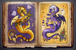 ADOPT OPEN - WITCH DRAGONS by Helga-BlueEyed