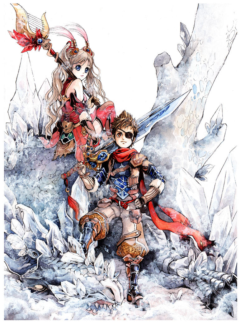 Warrior and Sorcerer by kinly