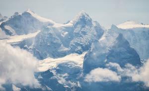 Snowy peaks by orestART