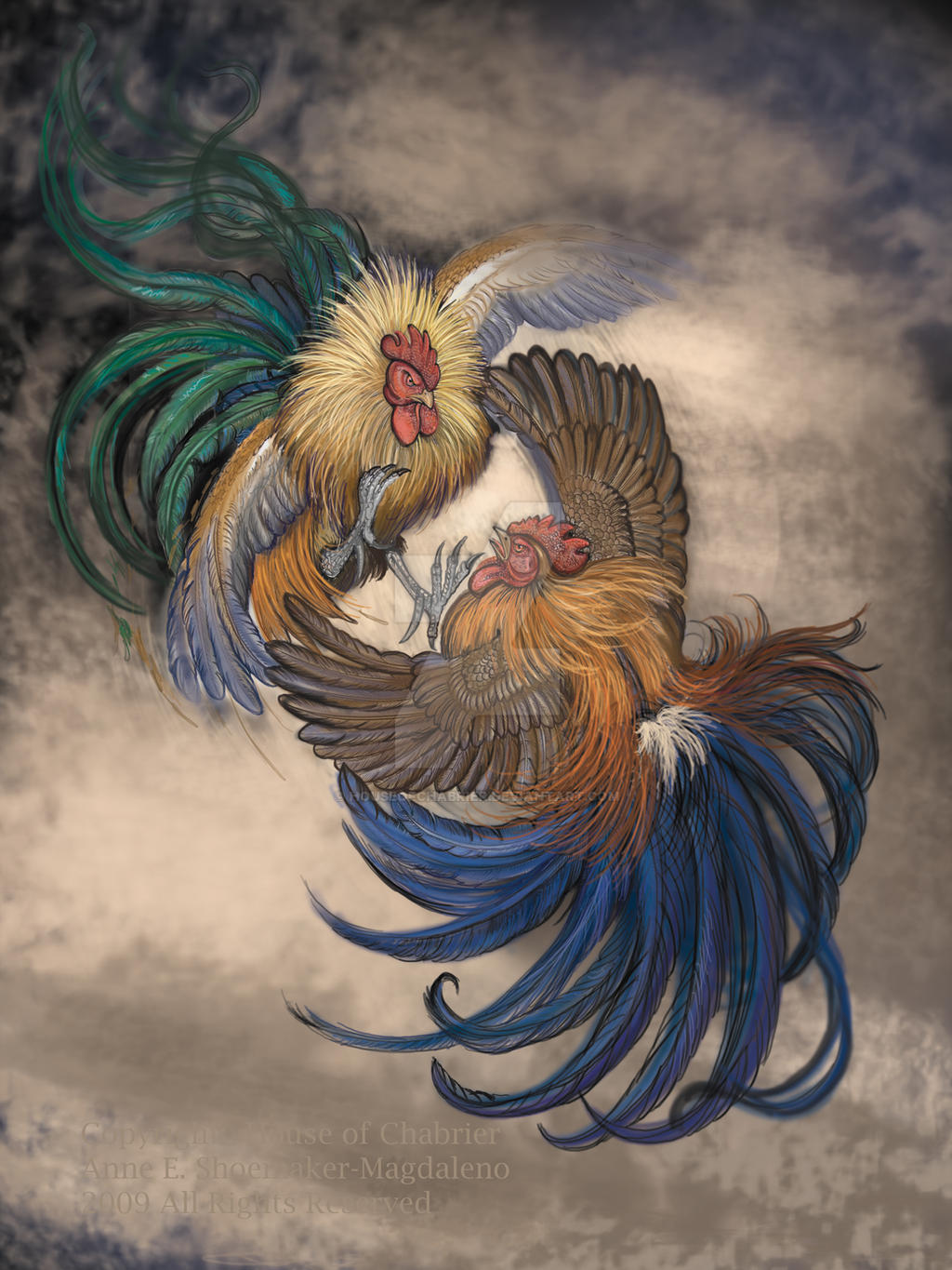 Cock fight adobephotoshop by houseofchabrier on deviantart - Cock designing ...