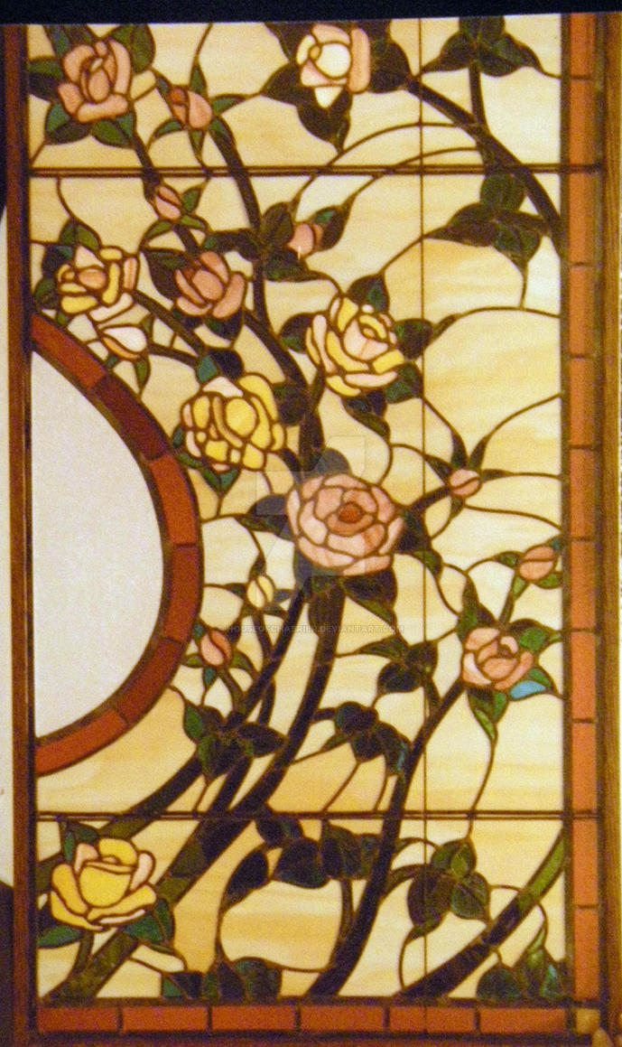 Stained Glass Rose detail by HouseofChabrier on DeviantArt