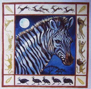 Zebra 1 Serengeti Moonlight
