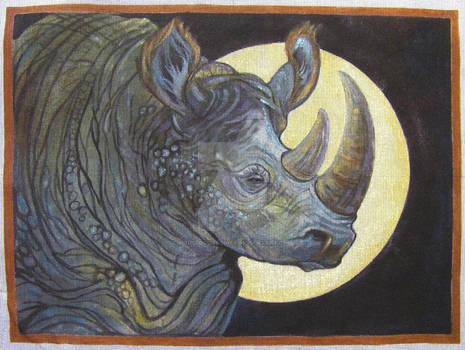 2 Horned African Rhino
