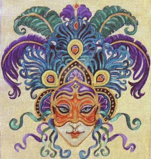 Female Ribbon Mardi Gras Mask