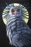 Secretary Bird by Moonlight by HouseofChabrier