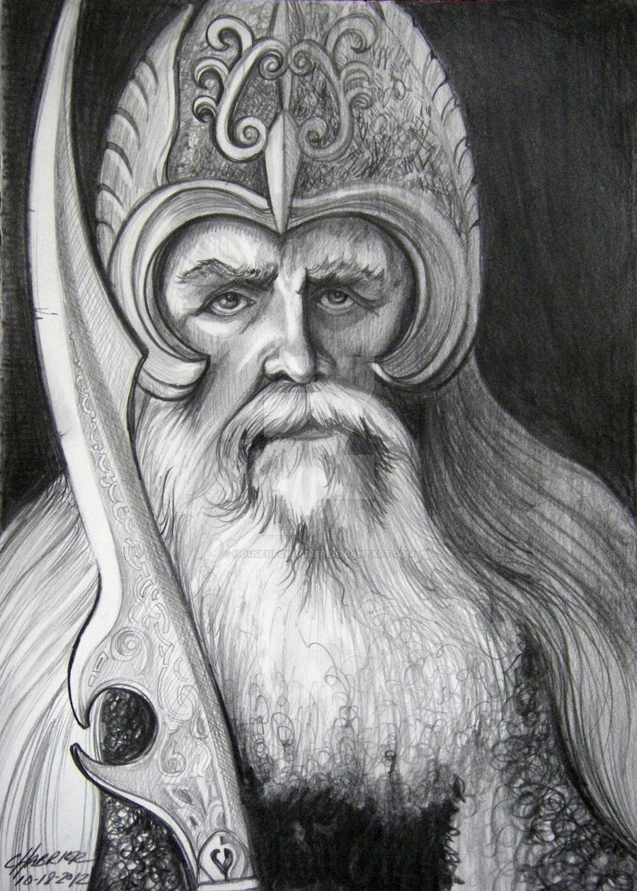 Viking warrior by houseofchabrier on deviantart for Viking pencils
