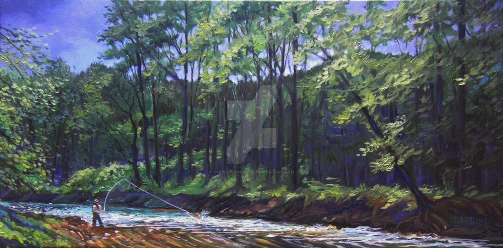 Back Creek Virginia Fishing by HouseofChabrier
