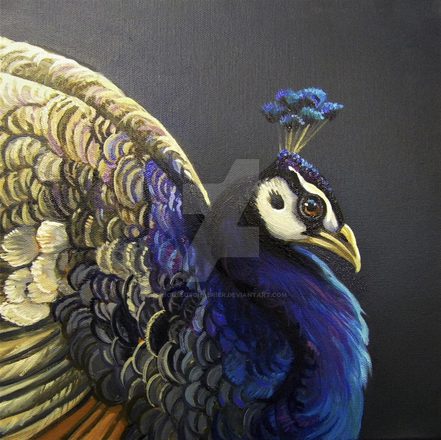 Wanda Lauscher Lavender Purple Peacock  by HouseofChabrier