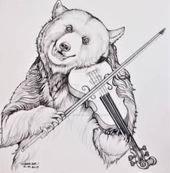 Thunder Playing the Violin