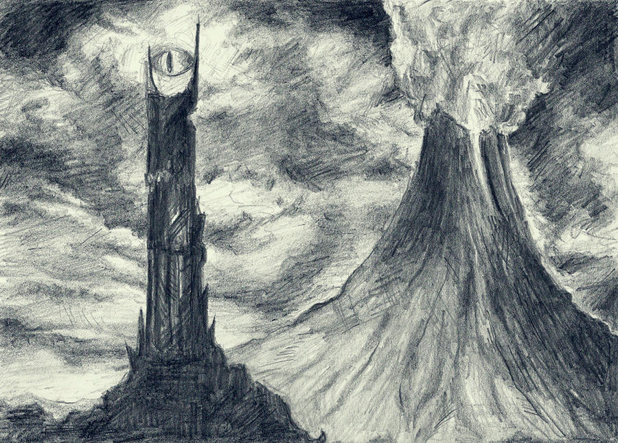Lord Of The Rings Eye Tower Drawing