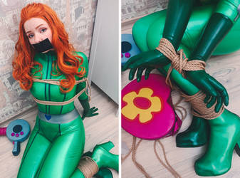 Totally Spies Sam Latex Cosplay Tied Up and Gagged