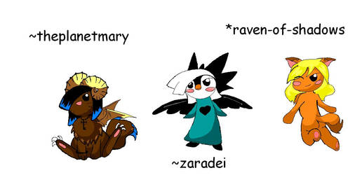 Personages by Sheep-in-the-moon