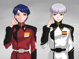 Athrun and Yzak: Hair cut