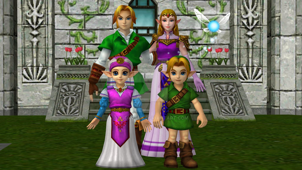 OoT Link and Zelda's Family with Aunt Navi by hjdkraus on DeviantArt