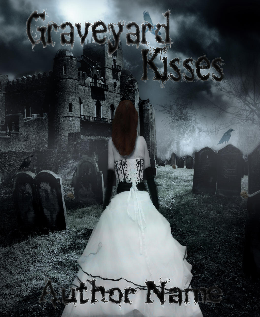The Graveyard Book Cover Art : Graveyard kisses premade book cover by