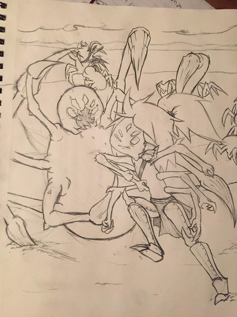 Undertale: Muffet vs Spider by captain-pie