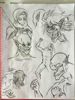 Attack on Titan sketches