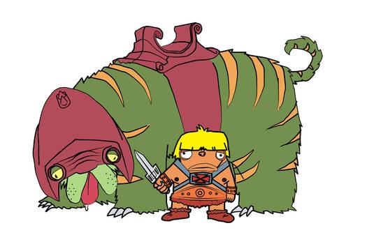 He-Man + the mighty Battlecat