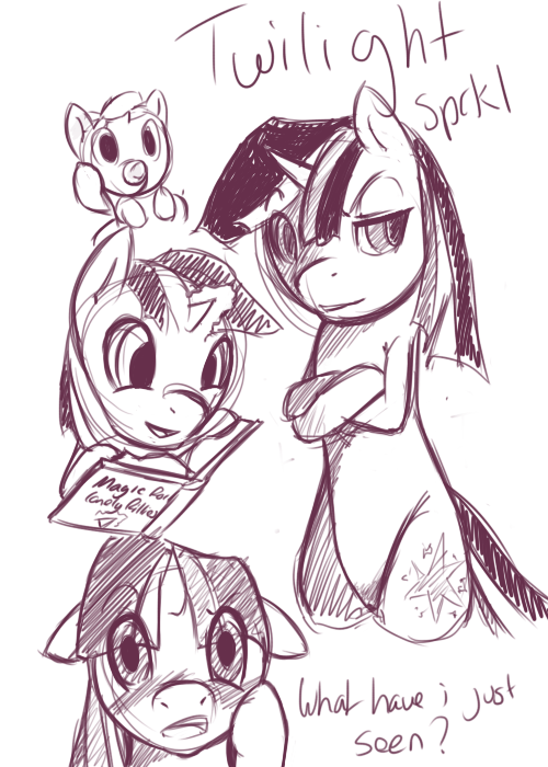 Twilight Sparkle Sketches by PonySocialExperiment