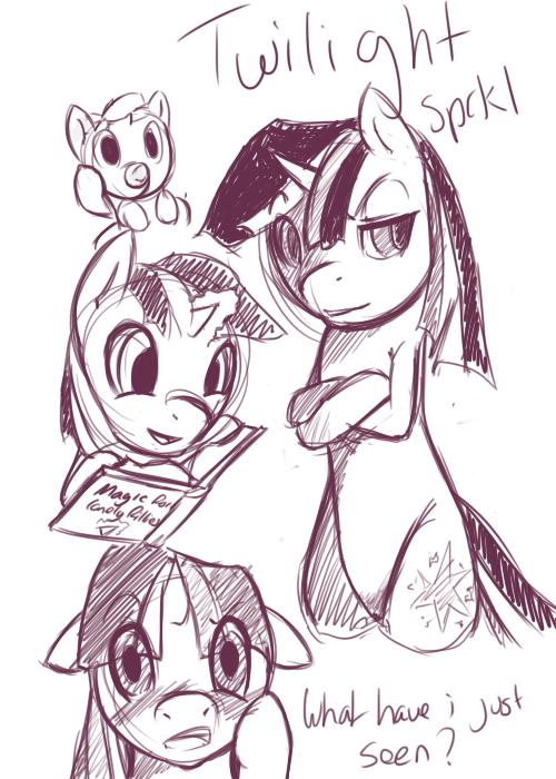 Twilight Sparkle Sketches by PonySocialExperiment