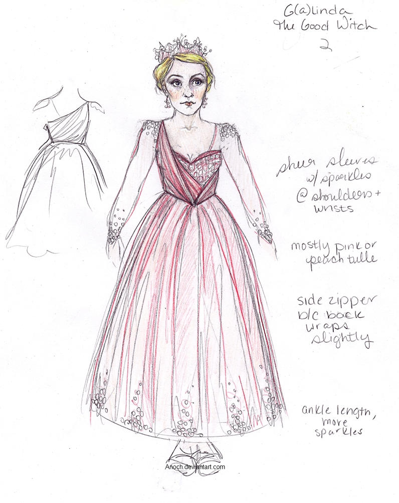 Costume Design-Galinda/Glinda the Good Witch by Anoch on DeviantArt