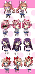 Doki Doki Literature Club Charm Ideas by ChibiYouko