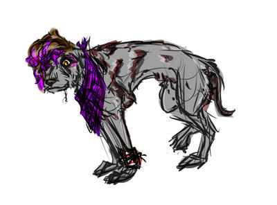 Soda the Irish Wolfhound [for sale] by WanderingSketch