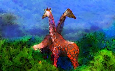 Giraffes by MCValerianA