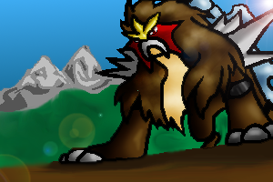 Entei Card by Ho-ohLover