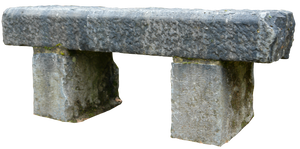 Stone bench 01 png