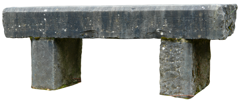 Stone bench 02 png
