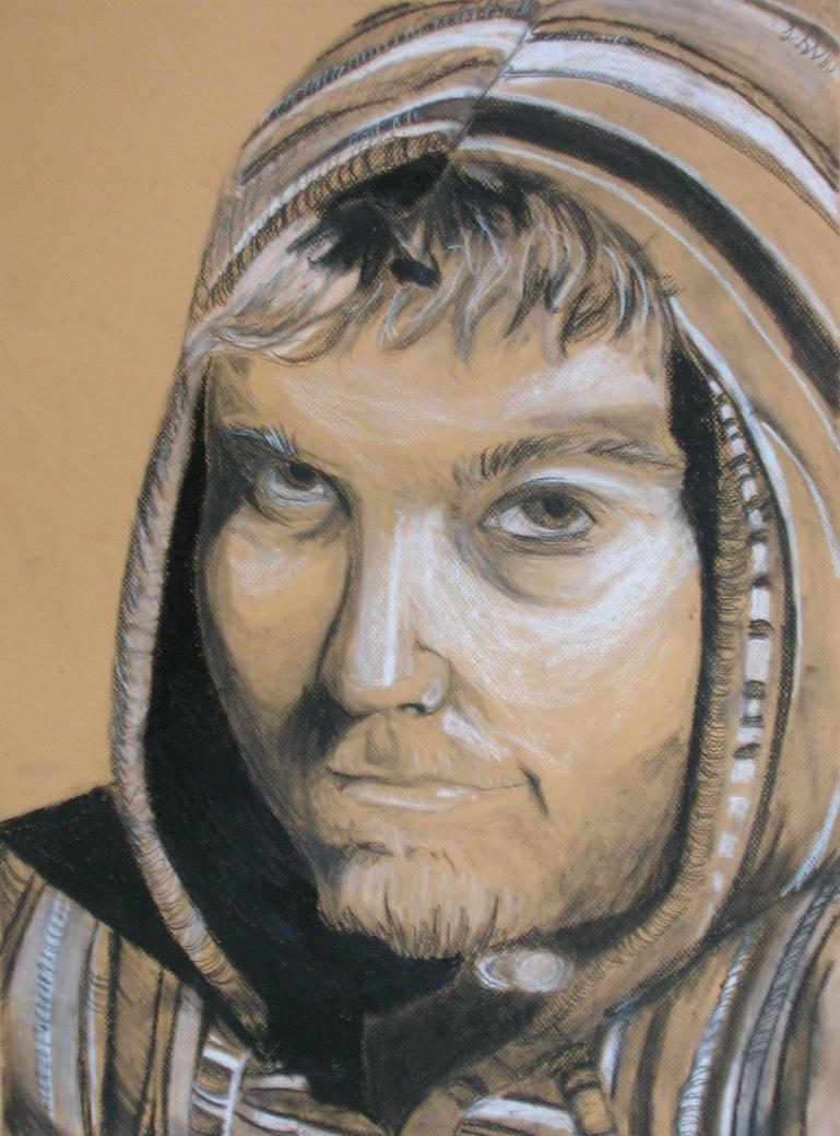 Chiaroscuro Self Portrait by StealThisDeviant