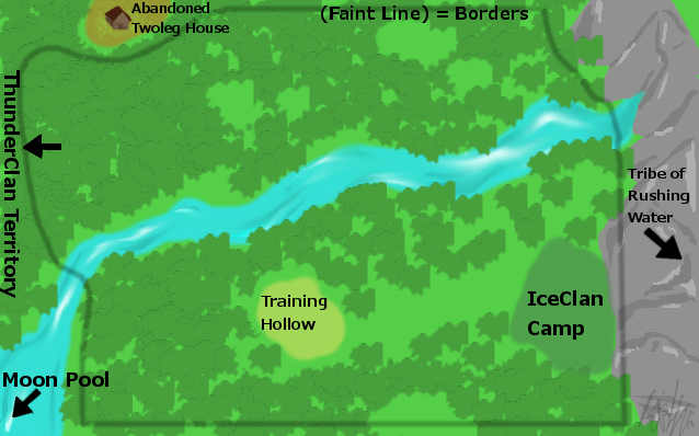 Map of IceClan Territory by IceClan01