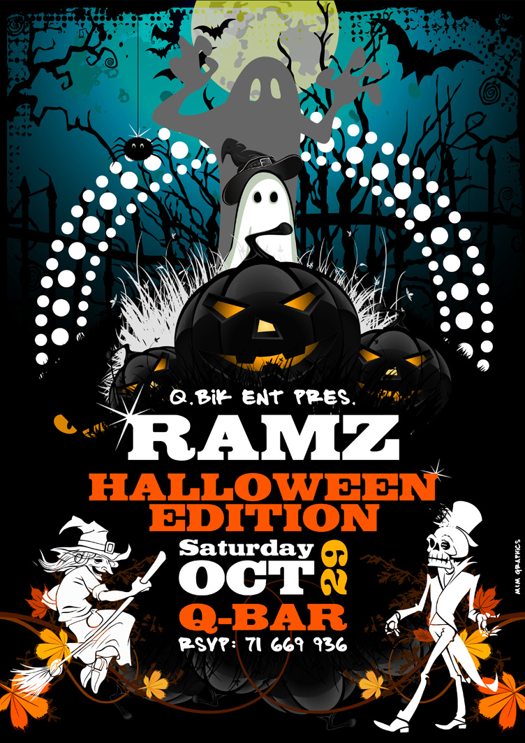 Halloween Flyer (DJ Ramz) - October 2011 by DarkMoshe on DeviantArt