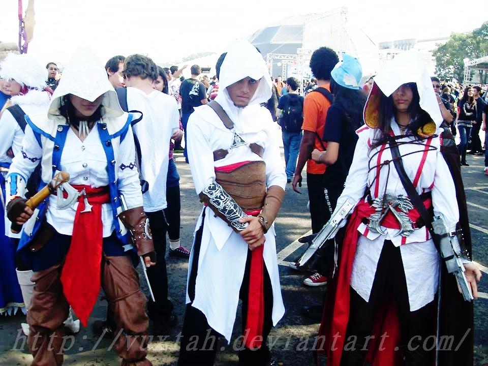 Connor Altair and Ezio  COSPLAY  by vuxtahConnor And Ezio