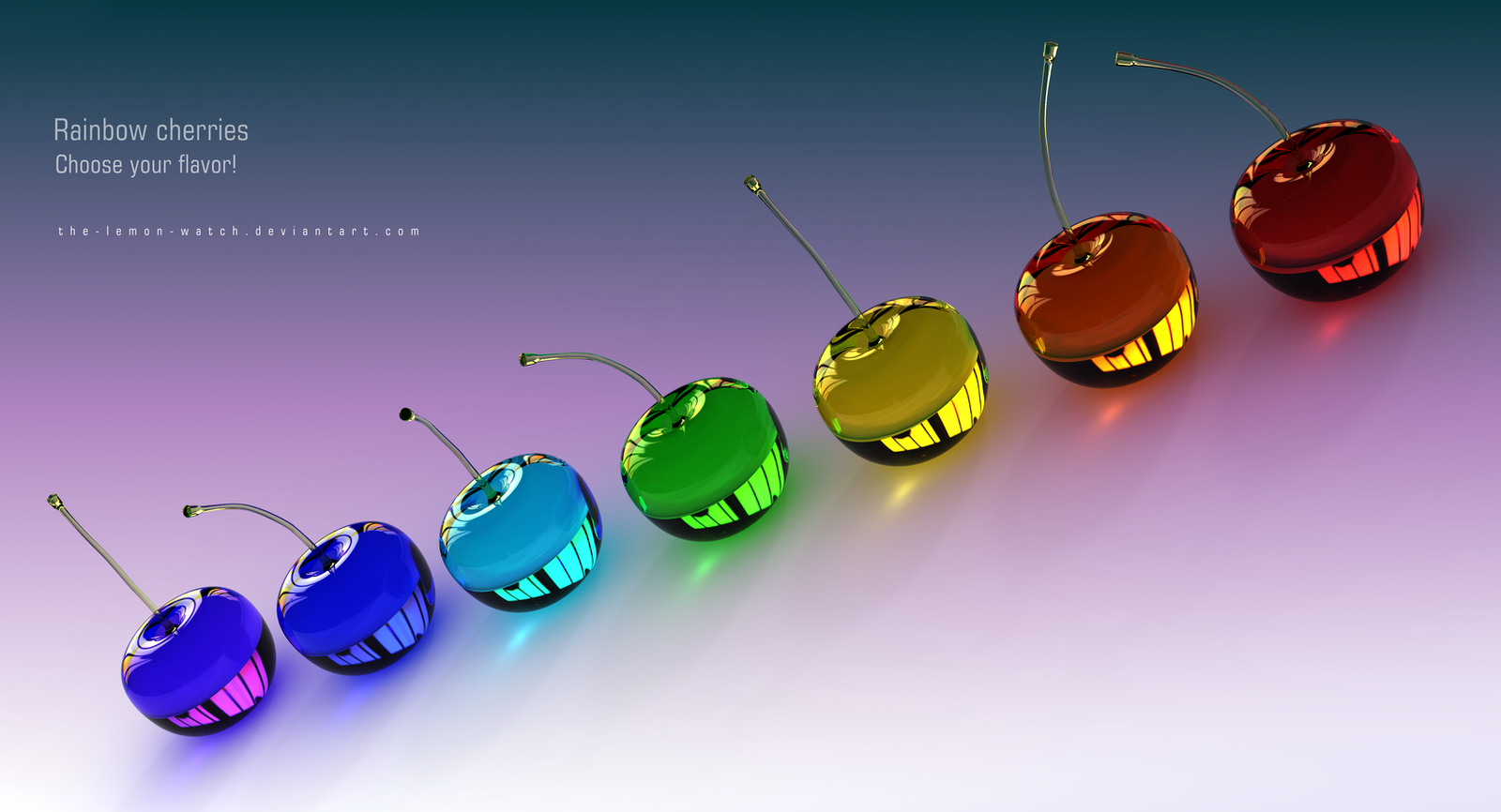 Rainbow Cherries by THE-LEMON-WATCH