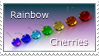 Rainbow Cherries Stamp by THE-LEMON-WATCH