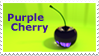 Purple Cherry Stamp by THE-LEMON-WATCH