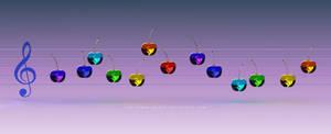 Music Rainbow Cherries