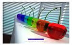 3D Glass Cherries - Full Color