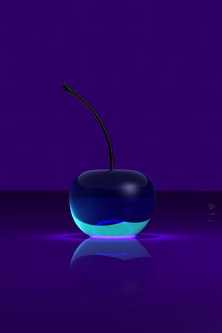 Purple 3D Cherry Spirit Day by THE-LEMON-WATCH