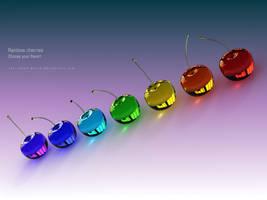 iPad third-generation - Rainbow Cherries - Wall