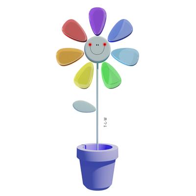 Rainbow Flower by THE-LEMON-WATCH
