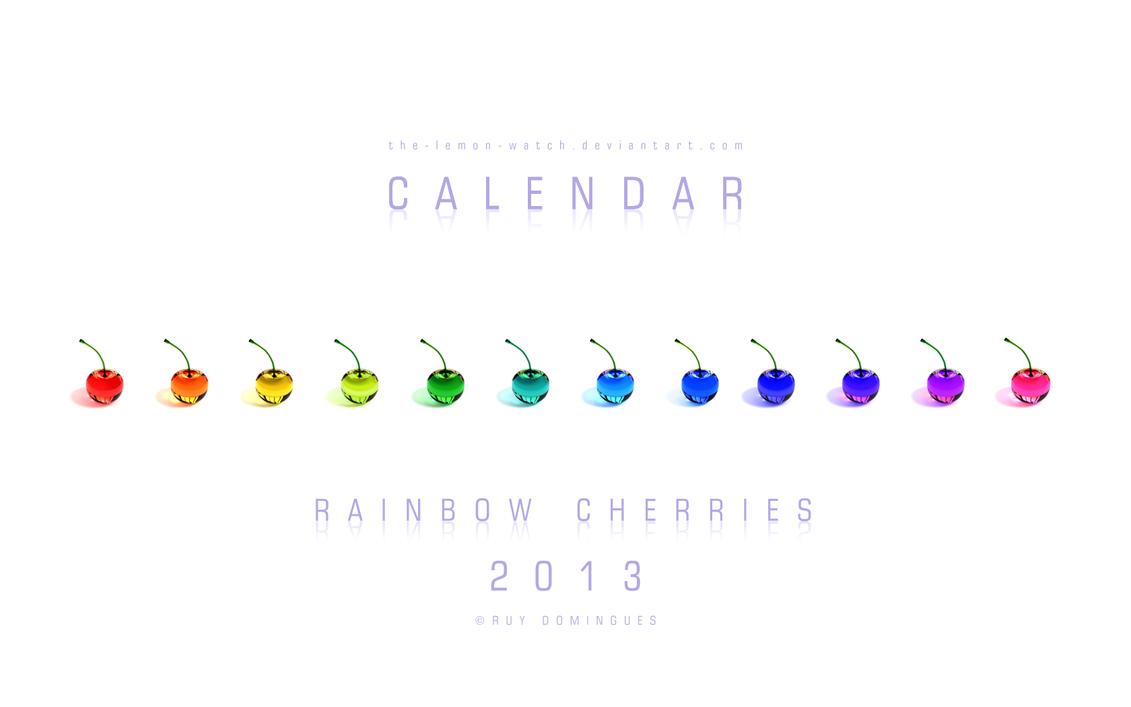 Rainbow Cherries - 2013 Calendar by THE-LEMON-WATCH