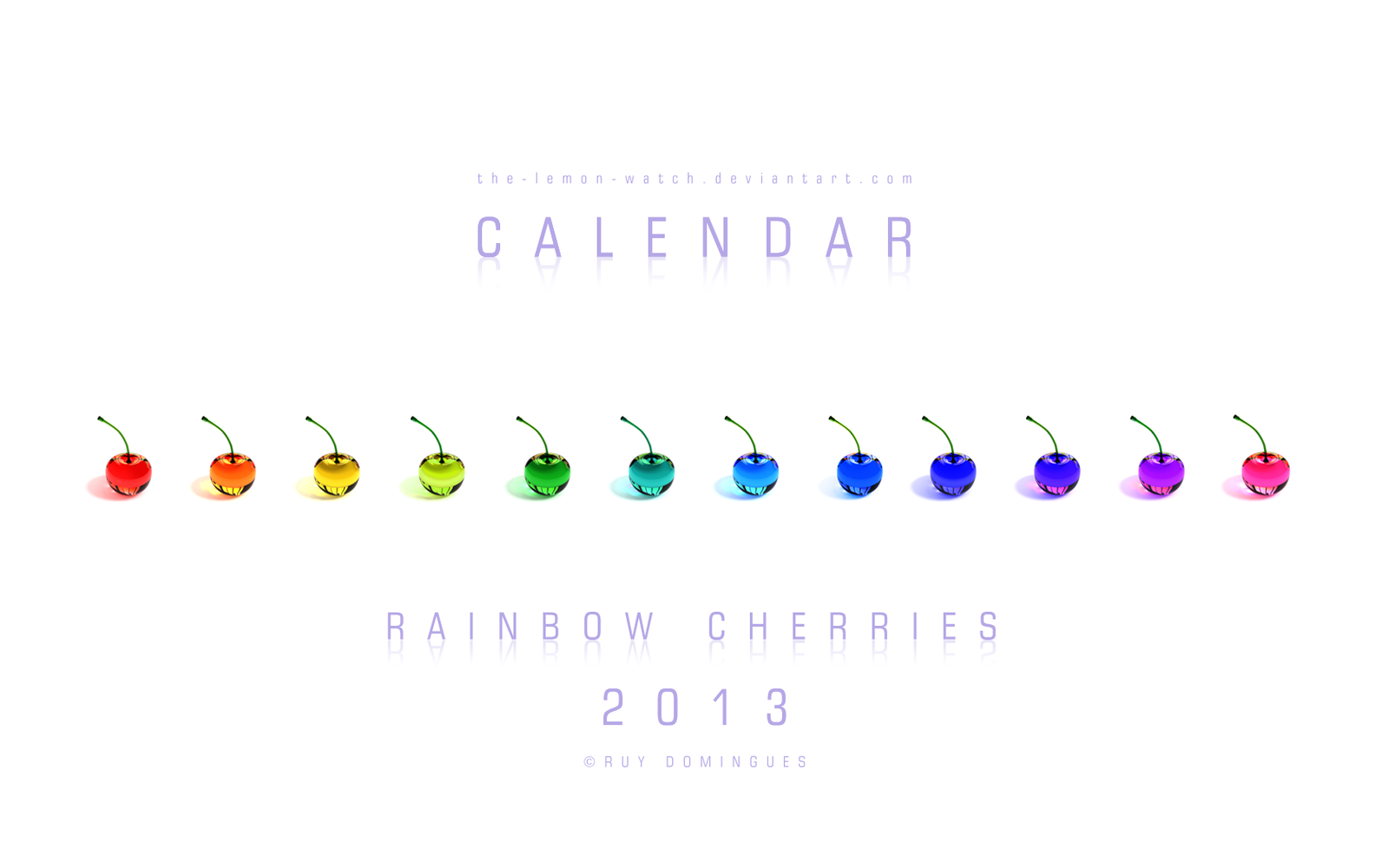 Rainbow Cherries - 2013 Calendar by THE-LEMON-WATCH